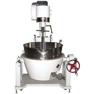 SB-408 Cooking Mixer, Painted Body, SUS#304 Double Jacket Oil Bowl, Gas Heating