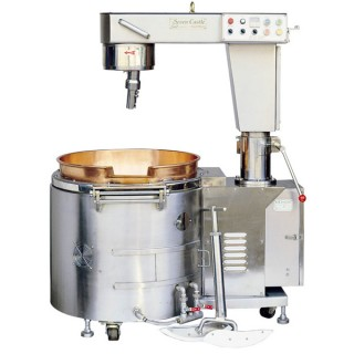 SC-410B Μίξερ Μαγειρέματος, SUS # 304 Σώμα, Κύπελλο από Χαλκό, Αυτόματη Κλίση, Θέρμανση Αερίου [B-1]