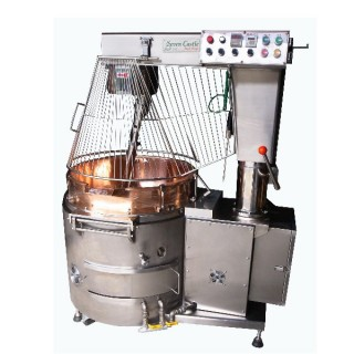 SC-410B Cooking Mixer, SUS#304 Body, Copper Bowl, Auto Tilting, Gas Heating, W/Safety Guard CE [E]