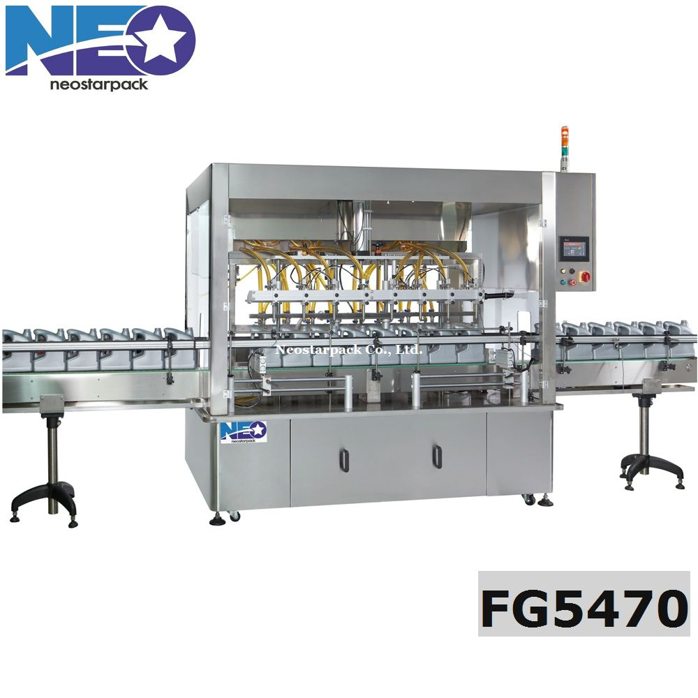8 heads gear pump liquid filler,Bleach filling machine