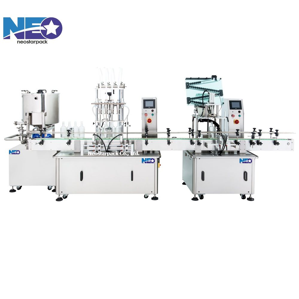 wine and beverage packaging equipment,wine filling line,automatic wine filling capping line