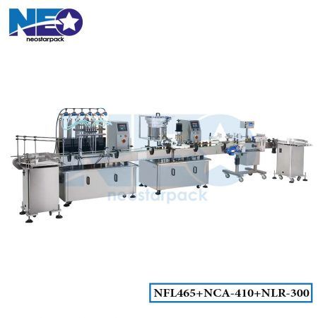 Automatic Bottle Filling Capping Labeling Production Line