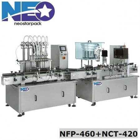 Automatic Bottle Liquid Filling Capping Machine Line