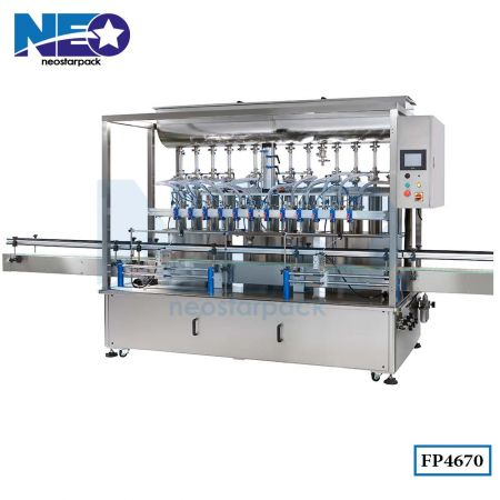 Twelve Nozzle Automatic Lubricant Oil Filling Machine (Piston Pump)