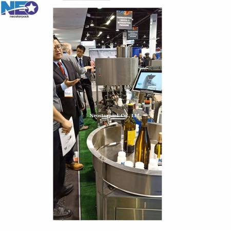 automatic wine filling capping packaging line