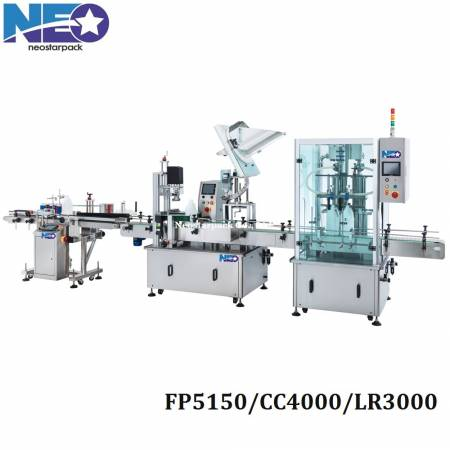 Chemical products filling capping labeling machine