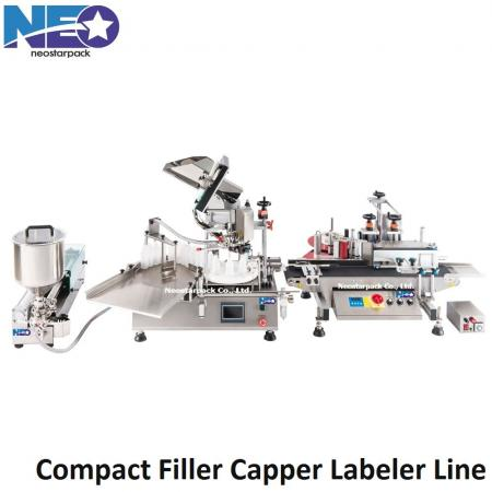 automatic filler capper labeler line