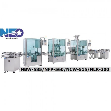 Thick liquid bottle filling capping machine line