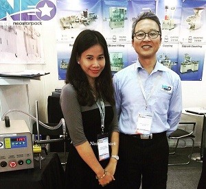 Neostarpack filling counting capping machine ProPak Vietnam 2016