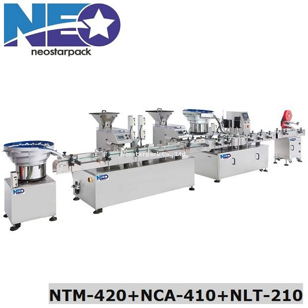 Automatic Counting Capping And Labeling Line