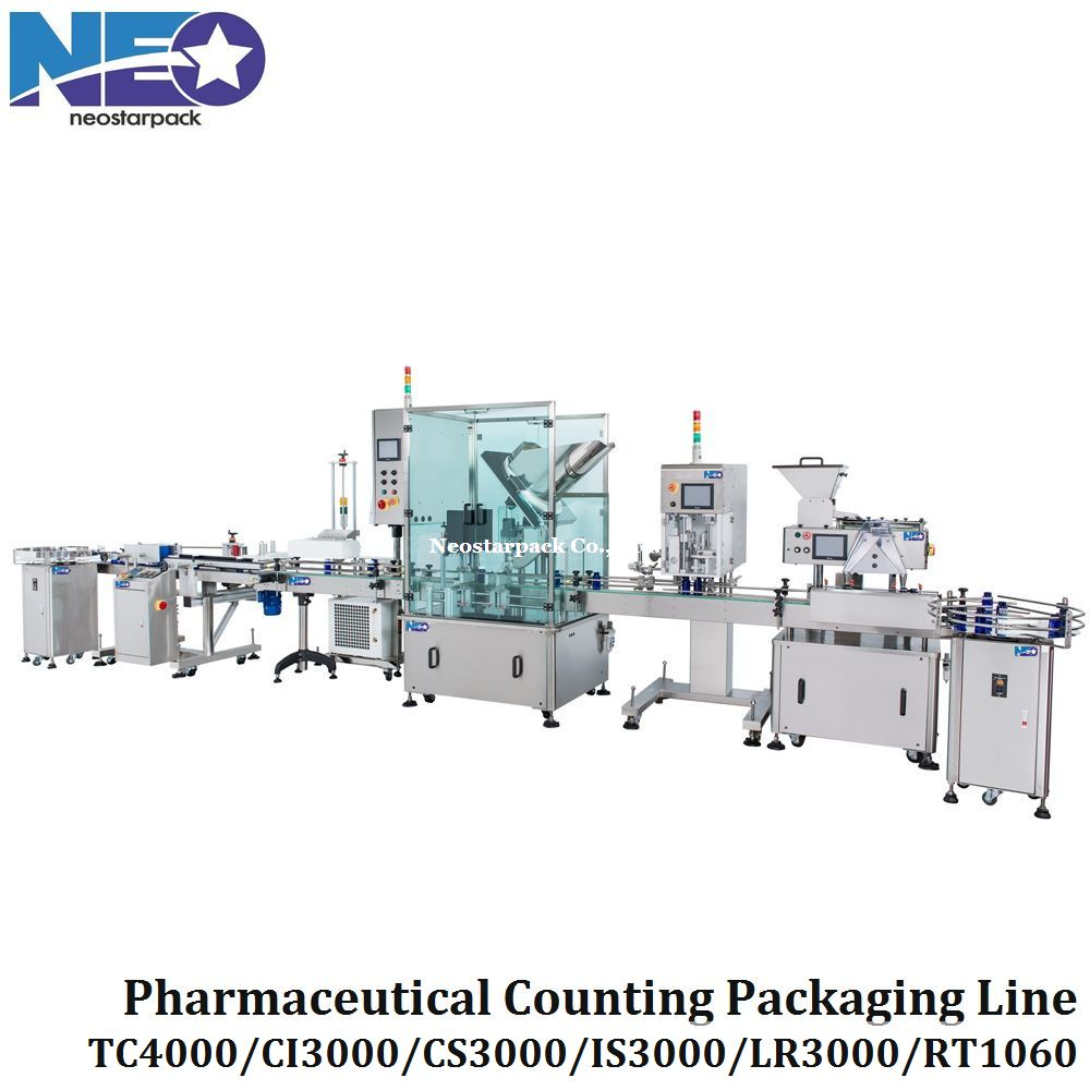 nutraceutical and pharmaceutical counting packaging line