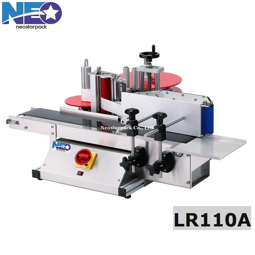 Glass round bottle labeling machine