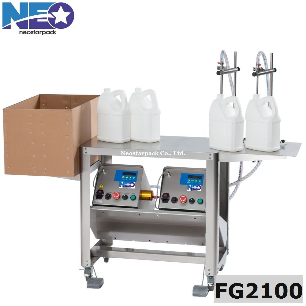 Two nozzles bottle filling machine