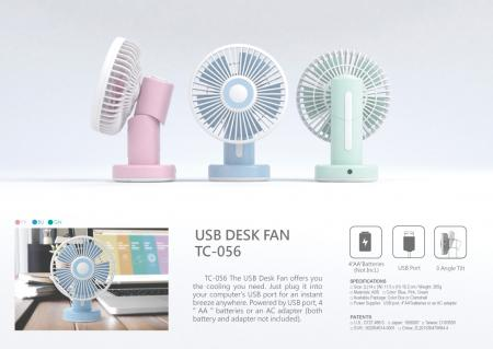 Table Fan USB/Battery operated TC-056