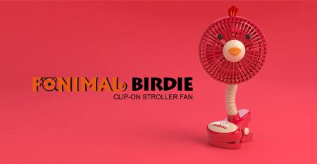 Fanimal (Birdie) Clip-on Stroller Fan USB/Battery Powered - Fanimal (Birdie) Clip-on Stroller Fan USB/Battery Powered TC-036BD