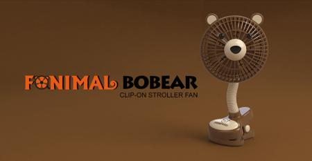 Fanimal (Bear) Clip-on Stroller Fan USB/Battery Powered - Fanimal (Bear) Clip-on Stroller Fan USB/Battery Powered TC-036BR