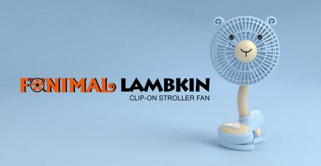 Fanimal (Lamb) Clip-on Stroller Fan USB/Battery Powered - Fanimal (Lamb) Clip-on Stroller Fan USB/Battery Powered TC-036LB