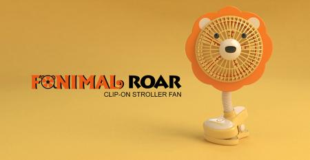 Fanimal (Lion) Clip-on Stroller Fan USB/Battery Powered - Fanimal (Lion) Clip-on Stroller Fan USB/Battery Powered TC-036LN