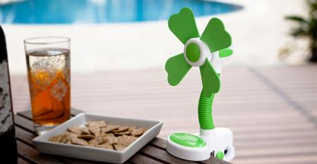 TC-033 Gooseneck Soft Blade Clip Fan USB/Battery Powered