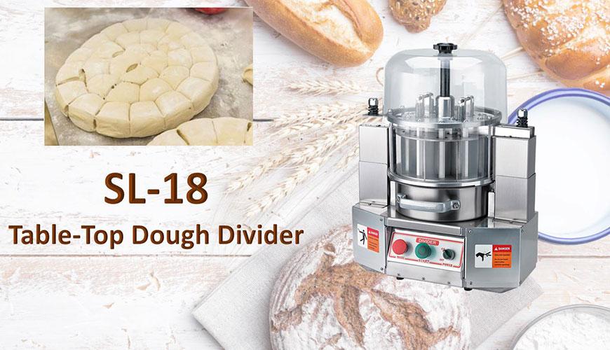Il divisore per pasta da tavolo viene utilizzato per dividere la pasta prepesata.