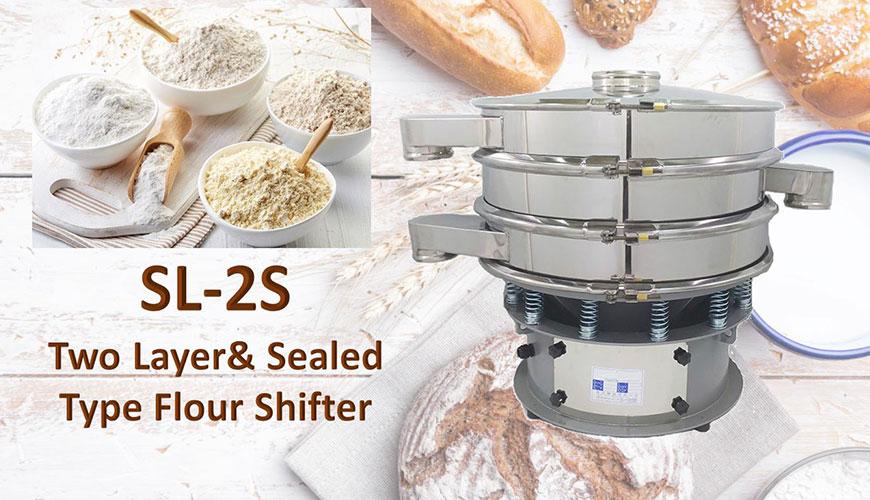 Shifter de farinha de várias camadas e selado é para a troca de materiais.