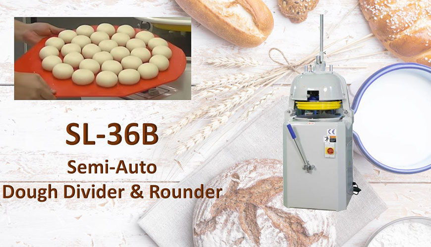 Semi-Auto Dough Divider & Rounder is used for dividing dough and rounding.