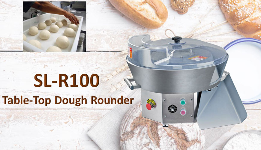 Table-Top Dough Rounder is used to round dough.