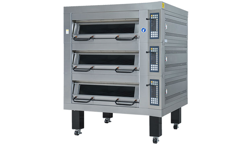 Used for baking breads cookies and cakes with automatic control temperature.