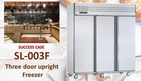 Congelatore verticale a tre porte