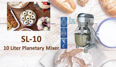 Impastatrice planetaria da 10 litri - La planetaria serve per impastare ingredienti come farina, uova, vaniglia, zucchero.