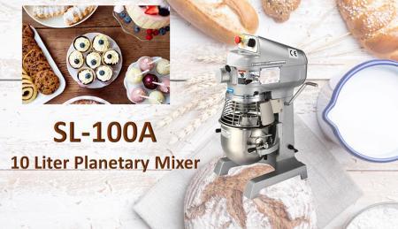 Impastatrice planetaria da 10 litri - La planetaria serve per mescolare ingredienti come farina, uova, vaniglia, zucchero.
