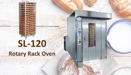 Forno giratório - Projetado para garantir o melhor desempenho mesmo nos produtos mais delicados.