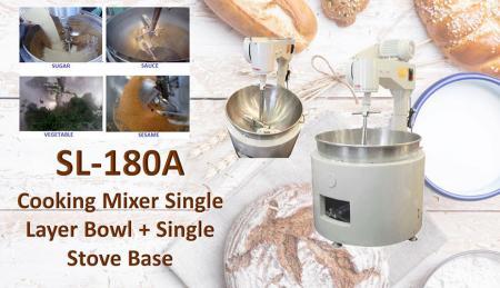 Miscelatore da cucina Ciotola Monostrato + Base Monocotto - Per mescolare o cucinare prodotti come mongo, marmellata, ingredienti, salse, pasti.