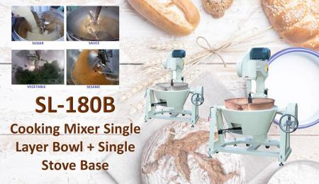 Cooking Mixer Single Layer Bowl + Single Stove Base - For mixing or cooking products like mongo, jam, ingredient, sauces, meals.