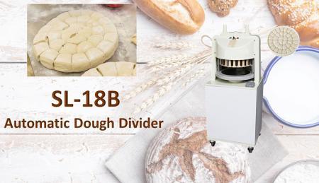 Divisore automatico della pasta - Il divisore per pasta del tipo a pavimento viene utilizzato per dividere la pasta prepesata.