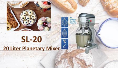 Impastatrice planetaria da 20 litri - La planetaria serve per impastare ingredienti come farina, uova, vaniglia, zucchero.
