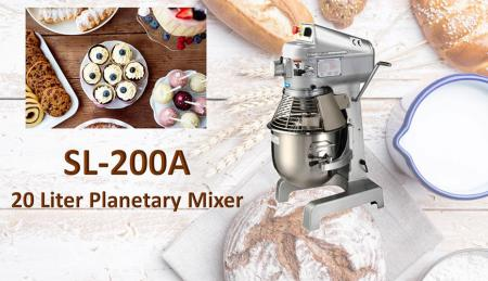 20 Liter Planetary Mixer - Planetary mixer is for mixing ingredients like flour, egg, vanilla, sugar.