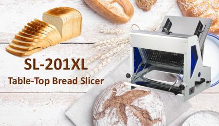 Fatiador de pão - O cortador de pão foi projetado para cortar torradas e pães.