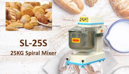 Spiral Mixer - Gently mix bread dough, allowing it to develop the proper gluten structure.
