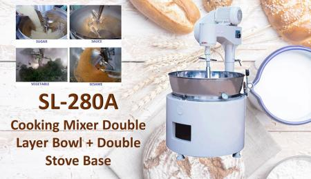 Cooking Mixer Double Layer Bowl + Double Stove Base - For mixing or cooking products like mongo, jam, ingredient, sauces, meals.