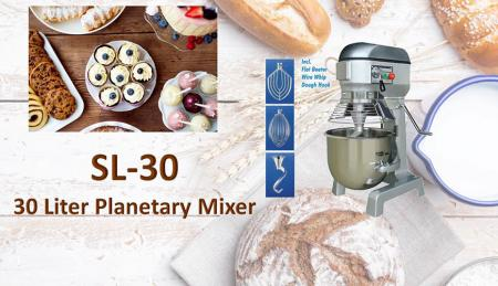 30 Liter Planetary Mixer - Planetary mixer is for mixing ingredients like flour, egg, vanilla, sugar.