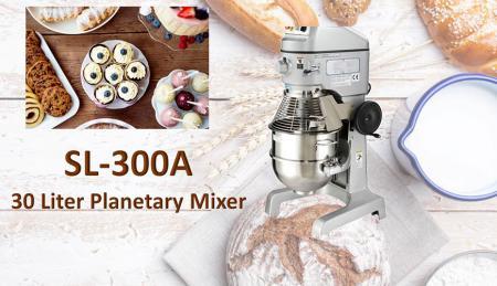 Misturador Planetário de 30 Litros - Misturador planetário é para misturar ingredientes como farinha, ovo, baunilha, açúcar.