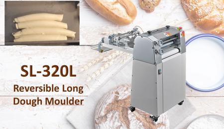 Moldador de massa longa reversível - O moldador de massa longa reversível é usado para enrolar a massa com firmeza.