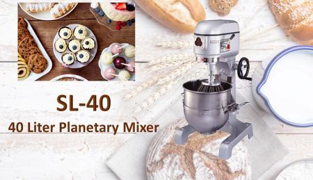 Impastatrice planetaria da 40 litri - La planetaria serve per impastare ingredienti come farina, uova, vaniglia, zucchero.