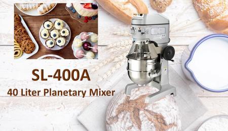 Impastatrice planetaria da 40 litri - La planetaria serve per mescolare ingredienti come farina, uova, vaniglia, zucchero.