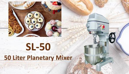 50 Liter Planetary Mixer - Planetary mixer is for mixing ingredients like flour, egg, vanilla, sugar.