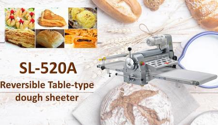 Table-Type Dough Sheeter - Table-Type Dough Sheeter is used for consistent flattening of dough.