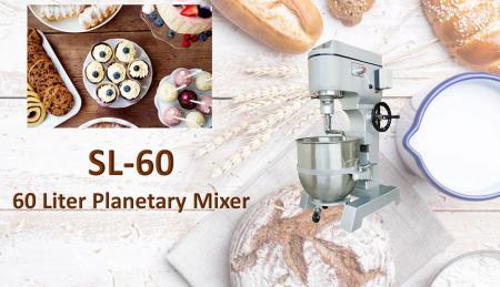 Impastatrice planetaria da 60 litri - La planetaria serve per mescolare ingredienti come farina, uova, vaniglia, zucchero.