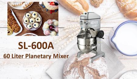 Misturador planetário de 60 litros - O misturador planetário serve para misturar ingredientes como farinha, ovo, baunilha, açúcar.