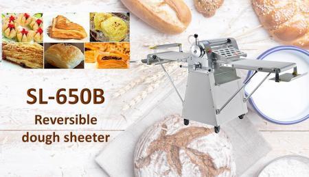 Reversible Dough Sheeter - Reversible floor type dough sheeter is used for consistent flattening dough.